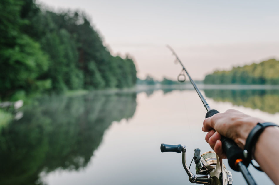 Fisherman with rod